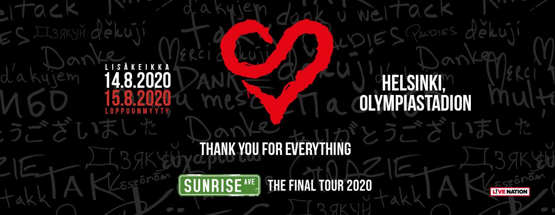 A Perfect Circle Tour 2020.Sunrise Avenue Friends Olympiastadion Helsinki Fri 14 08 2020